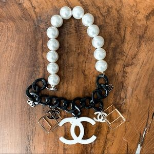 One-of-kind custom Chanel statement necklace